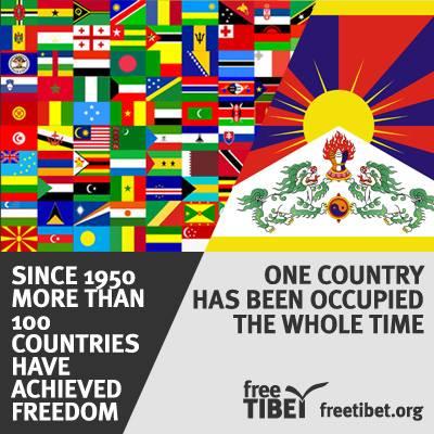 Desde 1950, más de cien países han logrado la libertad. Un país sigue ocupado durante todo este tiempo.
